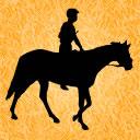 馬と騎手のアイコン 3 競馬フリー素材 競馬ブログ素材のうまぽっと