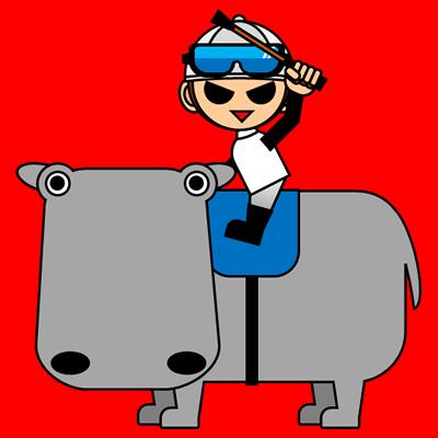 カバに乗る騎手のアイコン(1)画像3