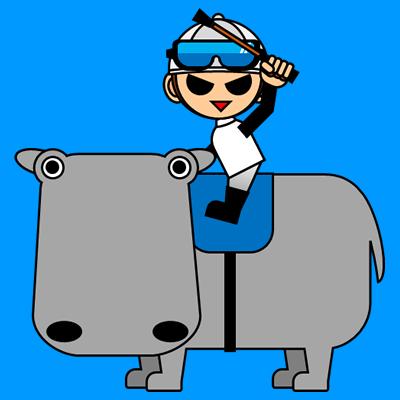 カバに乗る騎手のアイコン(1)画像4
