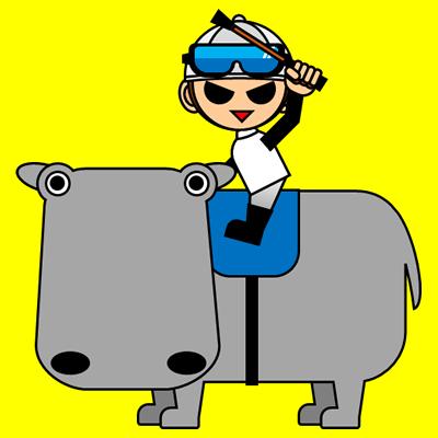 カバに乗る騎手のアイコン(1)画像5