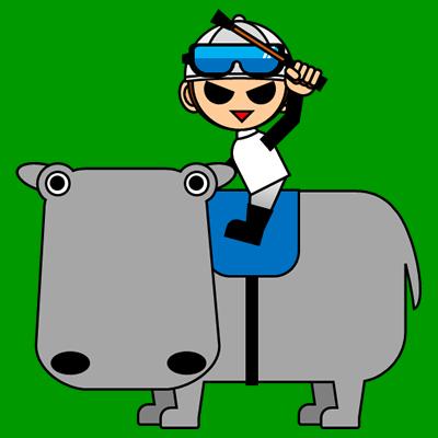 カバに乗る騎手のアイコン(1)画像6