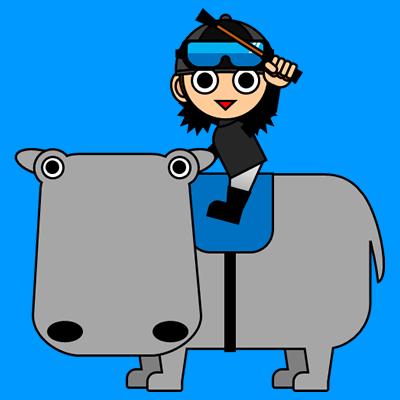 カバに乗る騎手のアイコン(2)画像4
