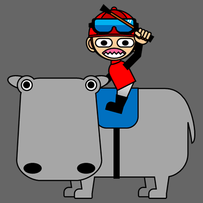 カバに乗る騎手のアイコン(3)画像2