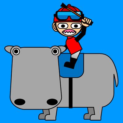 カバに乗る騎手のアイコン(3)画像4