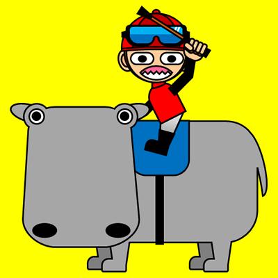 カバに乗る騎手のアイコン(3)画像5