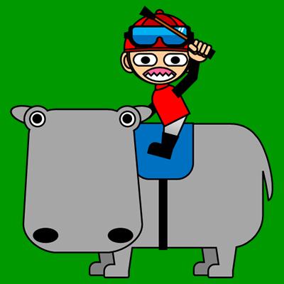 カバに乗る騎手のアイコン(3)画像6