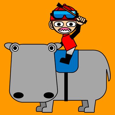 カバに乗る騎手のアイコン(3)画像7
