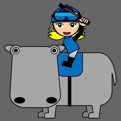 カバに乗る騎手のアイコン(4)画像2