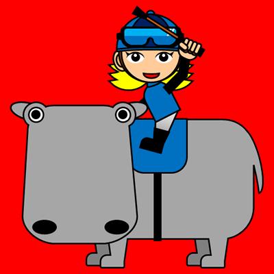 カバに乗る騎手のアイコン(4)画像3