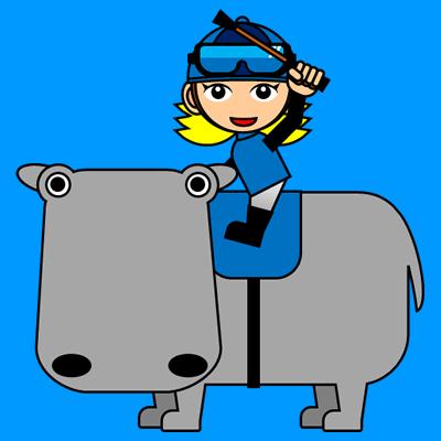 カバに乗る騎手のアイコン(4)画像4