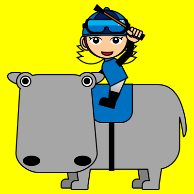 カバに乗る騎手のアイコン(4)画像5