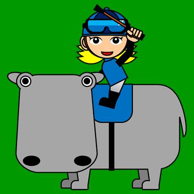 カバに乗る騎手のアイコン(4)画像6