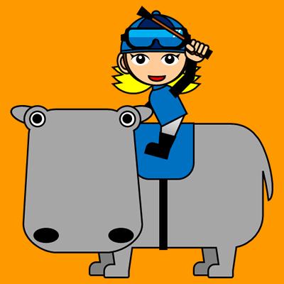 カバに乗る騎手のアイコン(4)画像7