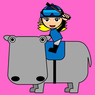 カバに乗る騎手のアイコン(4)画像8