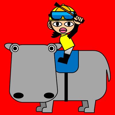カバに乗る騎手のアイコン(5)画像3
