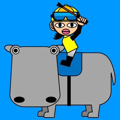 カバに乗る騎手のアイコン(5)画像4