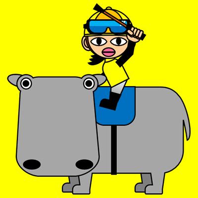 カバに乗る騎手のアイコン(5)画像5