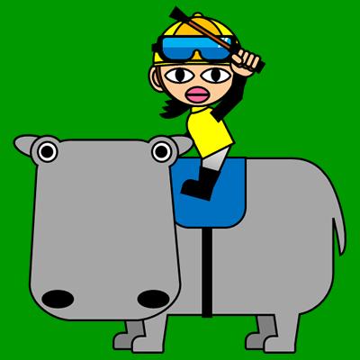 カバに乗る騎手のアイコン(5)画像6