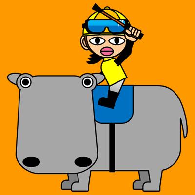 カバに乗る騎手のアイコン(5)画像7