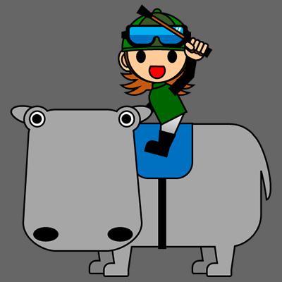 カバに乗る騎手のアイコン(6)画像2