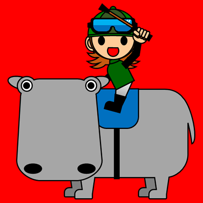 カバに乗る騎手のアイコン(6)画像3