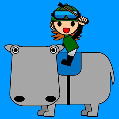 カバに乗る騎手のアイコン(6)画像4