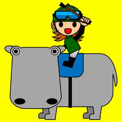 カバに乗る騎手のアイコン(6)画像5