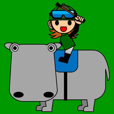 カバに乗る騎手のアイコン(6)画像6