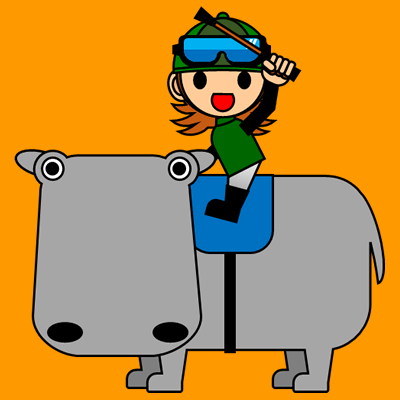 カバに乗る騎手のアイコン(6)画像7