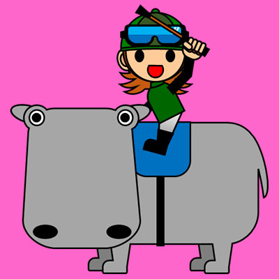 カバに乗る騎手のアイコン(6)画像8