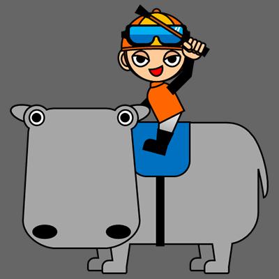 カバに乗る騎手のアイコン(7)画像2
