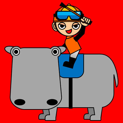 カバに乗る騎手のアイコン(7)画像3