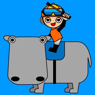 カバに乗る騎手のアイコン(7)画像4