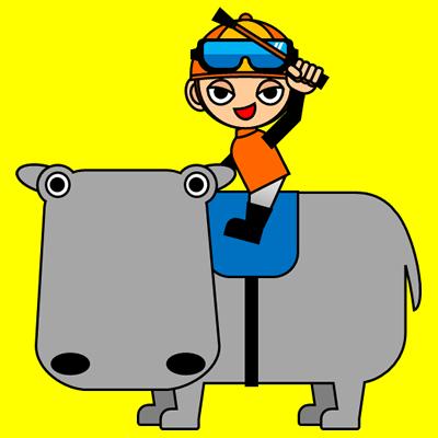 カバに乗る騎手のアイコン(7)画像5