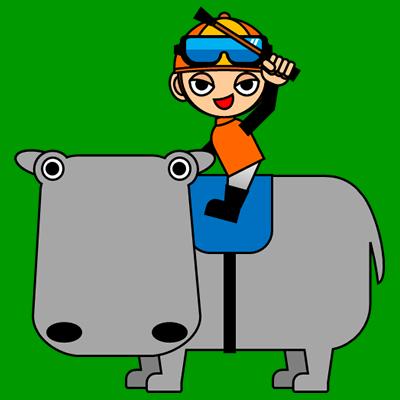 カバに乗る騎手のアイコン(7)画像6