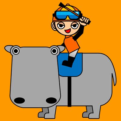 カバに乗る騎手のアイコン(7)画像7