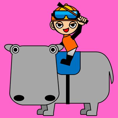 カバに乗る騎手のアイコン(7)画像8