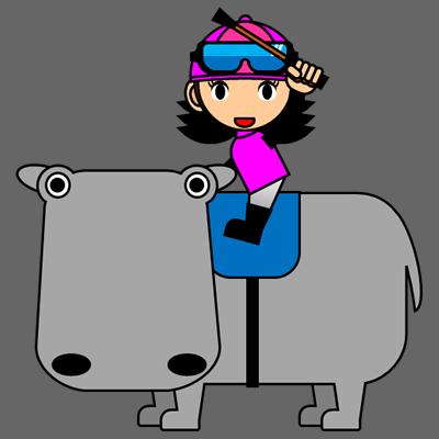 カバに乗る騎手のアイコン(8)画像2