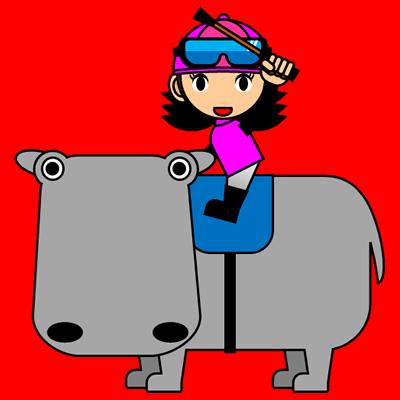 カバに乗る騎手のアイコン(8)画像3