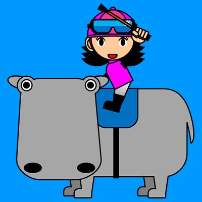カバに乗る騎手のアイコン(8)画像4