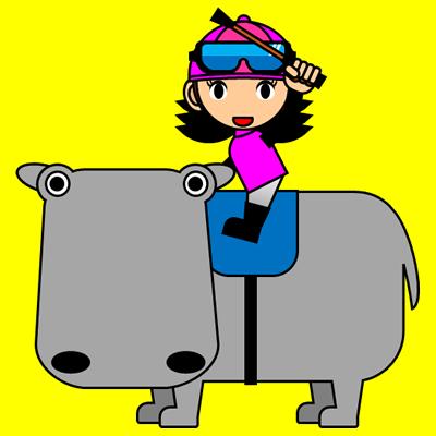 カバに乗る騎手のアイコン(8)画像5