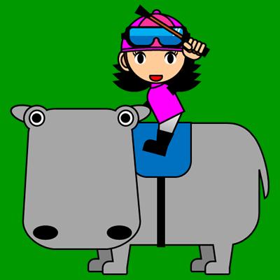カバに乗る騎手のアイコン(8)画像6