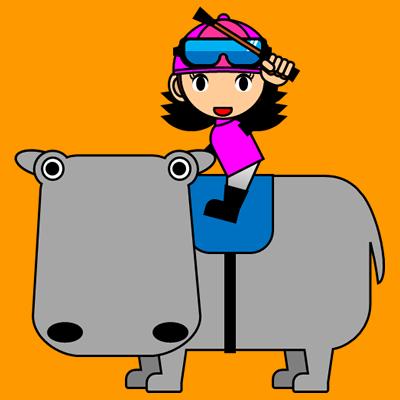 カバに乗る騎手のアイコン(8)画像7