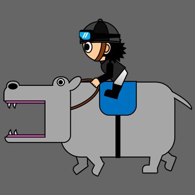 カバを走らせる騎手のアイコン(2)画像2