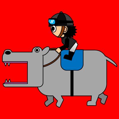 カバを走らせる騎手のアイコン(2)画像3