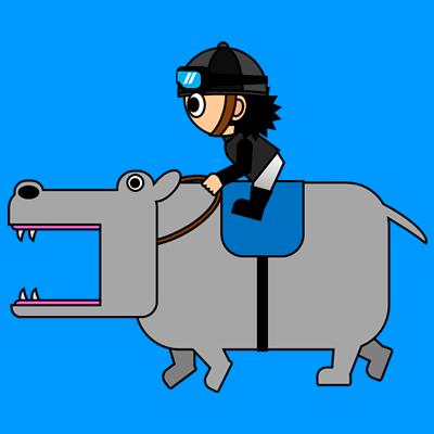 カバを走らせる騎手のアイコン(2)画像4