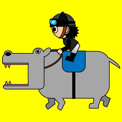 カバを走らせる騎手のアイコン(2)画像5