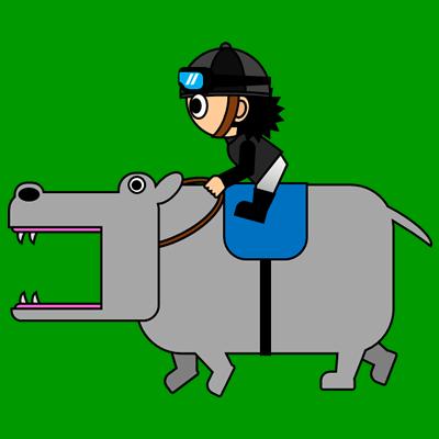 カバを走らせる騎手のアイコン(2)画像6
