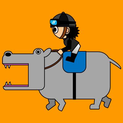 カバを走らせる騎手のアイコン(2)画像7