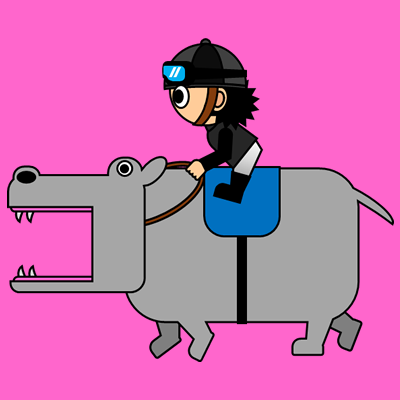 カバを走らせる騎手のアイコン(2)画像8